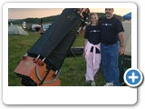 "Al Marmora and Alyssa with their Argo Navis equipped 18"" Obsession Almost Heaven Star Party, West Virginia"
